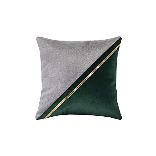 JHBMX PU genäht Umarmung Kissen Taille durch das Modell Zimmer Home Dekoration Sofa Kissen 45 * 45cm C