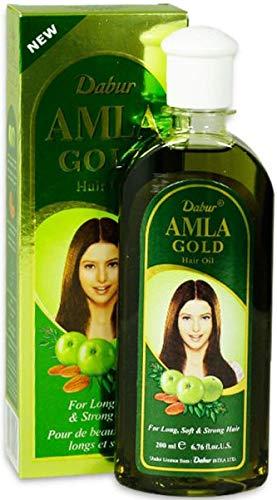 Dabur Amla Gold Haaröl 200ml für langes weiches und kräftiges Haar (1 x 200ml)