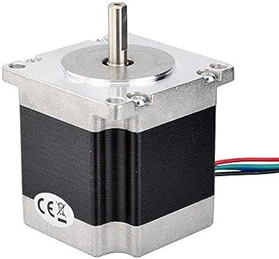 Nema 23 Stepper Motor 23HS5628 1.26Nm(178.4oz.in) 56mm 2.8A 6.35mm Shaft 4-Lead for CNC Laser Cutting Machine 3D Printing Accessories