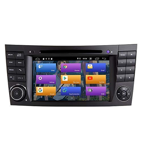 KLL para Mercedes Benz Clase E W211 W219 CLS Android 10.0 Car Radio Stereo GPS System 7' Car Multimedia Player Support Car Auto Play/TPMS/OBD / 4G WiFi/Dab/Mirror Link