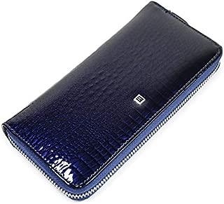 Beth Cat Women Long Zipper Wallet Genuine Leather Alligator Ladies Purse Wristlet Wallets Clutch for Phone Cards Coin Purses