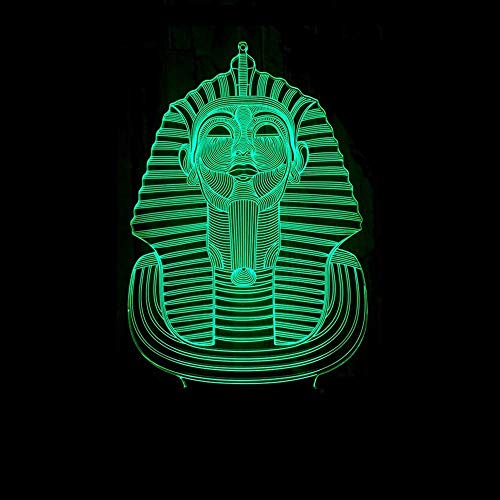WSJTT Lámpara de escritorio Sphinx LED lámpara de gradiente colorido 3D estereoscópico táctil remoto USB noche luz escritorio imaginativamente decorado regalo de cumpleaños 20 * 13 cm