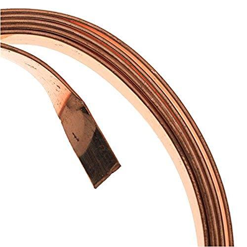 Artistic Wire 21-Gauge Flat 5mm by .75mm, 3-Feet, Bare Copper