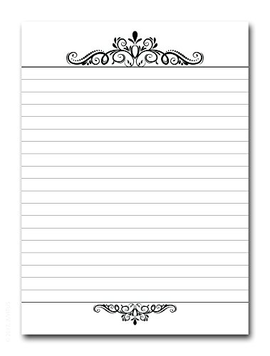 """Premium Executive Narrow Ruled 5"""" x 7"""" Notepad, 50 Pages, 70 lb. Paper, Cardboard Back"""