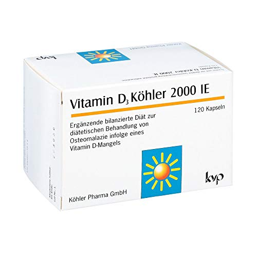 Vitamin D3 Köhler 2000 IE Kapseln, 120 pcs. Capsules