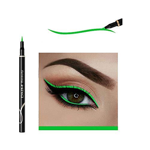 Cat Eye Makeup Waterproof Neon Colorful Liquid Eyeliner Pen Make Up Comestics Long-lasting Black Eye Liner Pencil Makeup Tools (green)