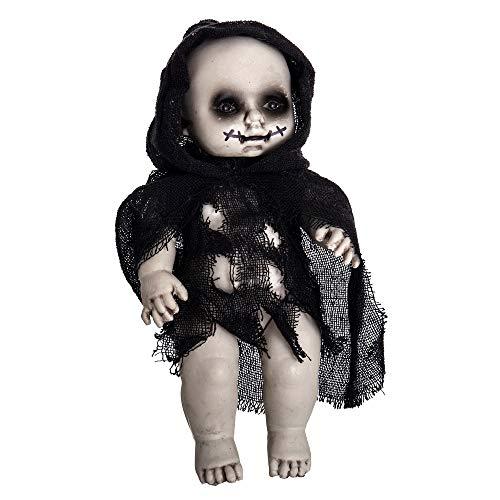 Muñeco diabólico de Halloween Negro de Tela de 16x9x30 cm - LOLAhome