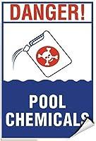 品質金属ティンサインチェス、危険プール化学薬品活動標識プールサイン、Style226道路標識キッチン楽しいバーキッチン壁サインビンテージポスターインチ