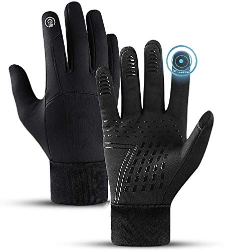 Cycling Gloves,VAKKI Unisex Winter Gloves Touchscreen Anti Slip Windproof Warm Thermal Gloves Full Finger Mountain Bike Gloves for Climbing Running Cycling Skiing