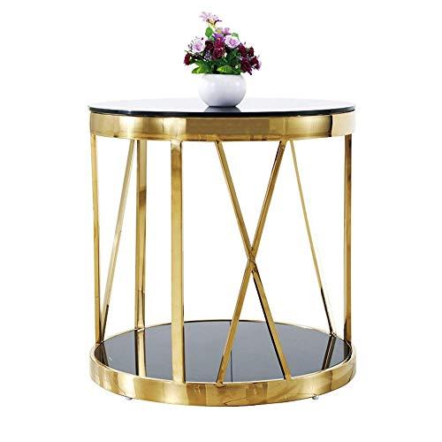 RVS ronde glas kleine bijzettafel salontafel moderne minimalistische eindtafels bank zijstoelen tafel thee tafel