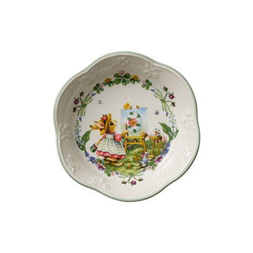 Villeroy & Boch Spring Fantasy Small Anna Paints Decorative Easter Egg Bowl, Premium Porcelain, Multi-Coloured, 16 x 3 cm, 16 x 3