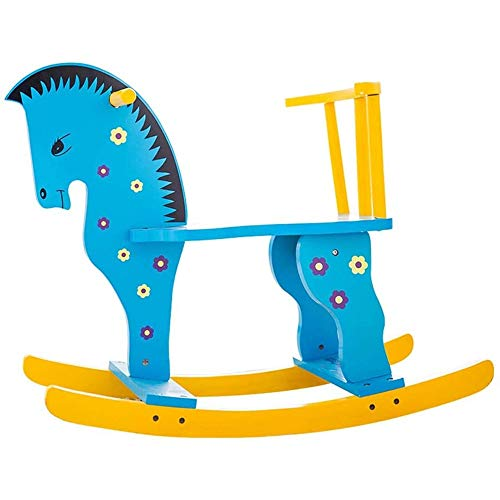 Fantastic Prices! FSGHJJKN Kids Rocking Horse, Wooden Ride on Toy for Toddler Boys & Girls, Motorcyc...