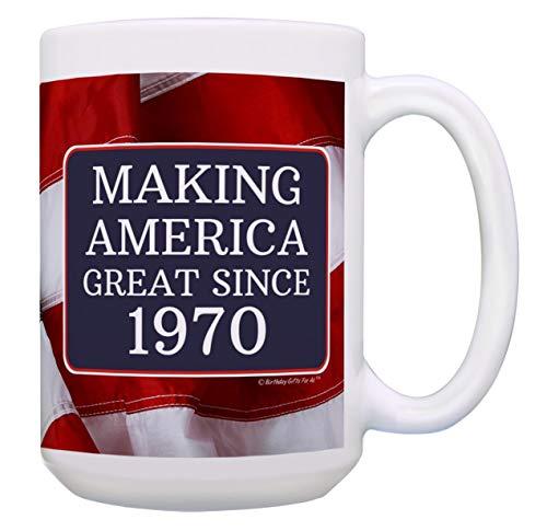 Geburtstag Geschenke für alle so Amerika Großartiges seit 1968Geschenk Kaffee Becher Tee Tasse 15 oz USA Flag