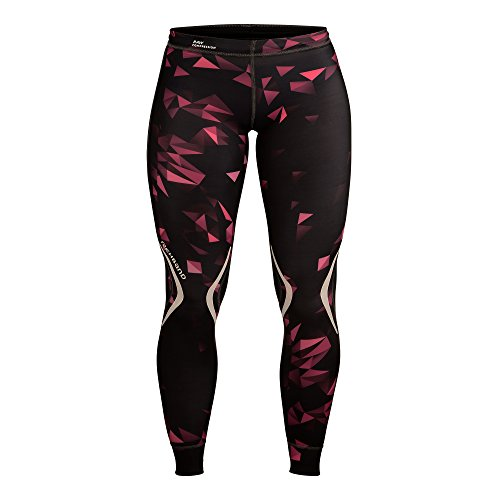 Rehband Damen Kompressionskleidung RX Raw, schwarz/pink, L, 6230-62