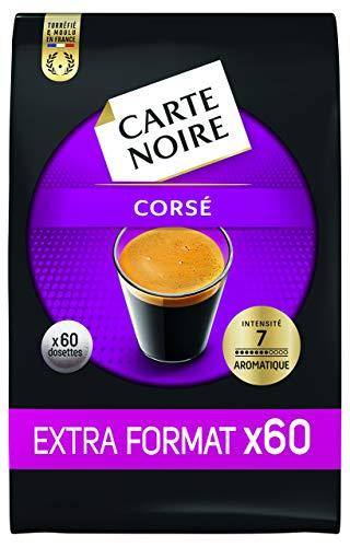 Carte Noire, Café en dosette Expresso Corsé N°7- 60 dosettes, Lot de 5 (total 300 dosettes Senseo...