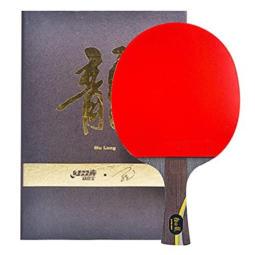 SGAIYUNRT Raqueta de Tenis de Mesa de Ataque y Defensa, Palas Ping Pong Competitiva con Madera y Carbono