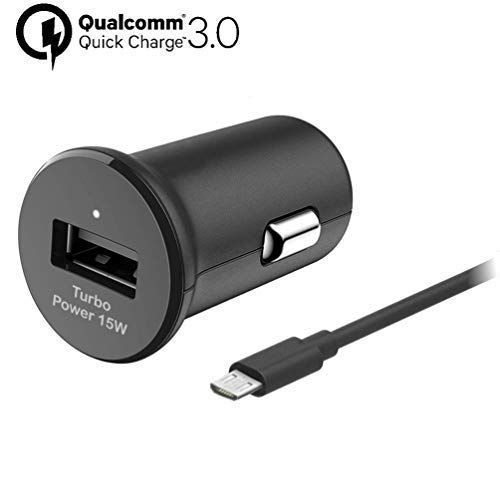 Turbo Fast 15W Car Charger Works for Samsung SM-R150NZBAXAR Includes Detachable Hi-Power USB Type-C Cable!