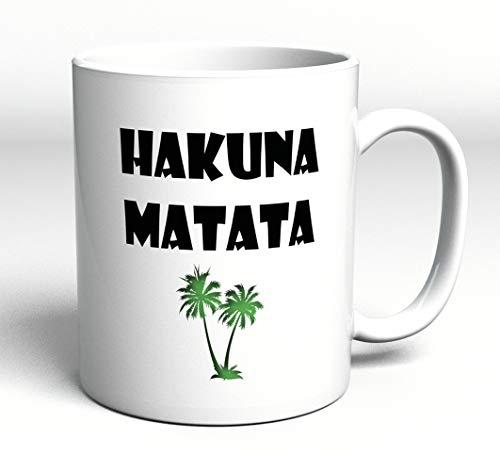 Mok met spreuk – Hakuna Matata – geen zorgen – geschenk – spreuk – Koning der Leeuwen – cadeau Kerstmis