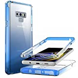 Nvollnoe for Samsung Note 9 Case Heavy Duty Protective Galaxy Note 9 Case Shockproof 2-in-1 Front Bumper with Anti-Yellowing Clear Phone Case for Samsung Galaxy Note 9-6.4''(Clear Blue)