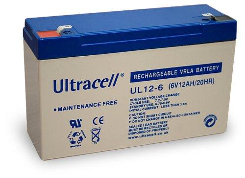 Wentronic Blei-Akku (Ultracell) 6 V, 12 Ah (Faston 187-4,8mm)