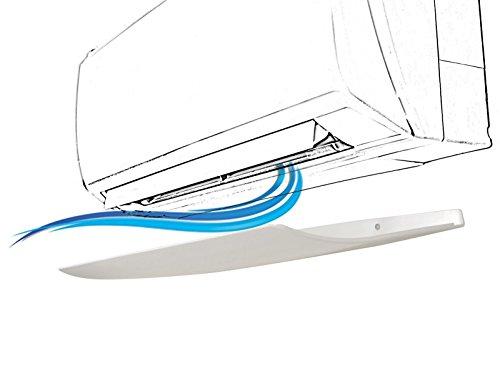 Deflettore per condizionatore Climik, misure 69x24 cm con pannello anti condensa brevettato, design, deflettore climatizzatore, deflettore aria condizionata. Made in Italy