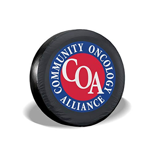 Tumskra Spare Wheel Tire Cover Bags The Community Oncology Alliance (COA) Tire Covers Tyre Covers Tire Cover for RV Fits Tire Diameter 14 Inch Wheel Tire Covers Spare 17 Car