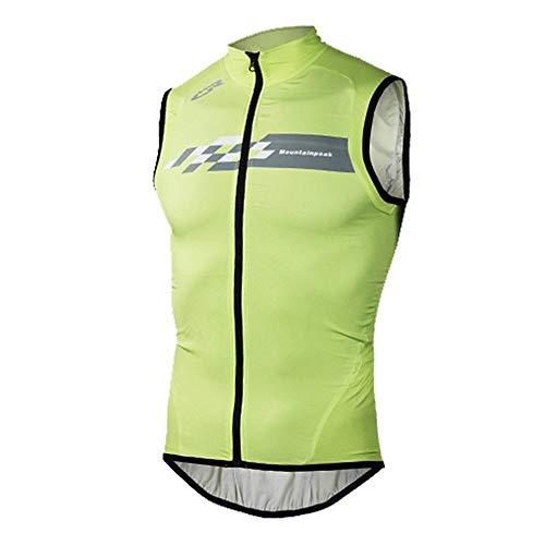 Veste De Cyclisme Hommes Femmes Réfléchissant Imperméable Coupe-Vent VTT Vélo Pluie Veste Respirante Outdoor Sport Nylon Raincoat Courir (Green Vest Women,M)