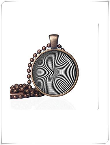 no see long time Collar de ilusión de Larga duración con Colgante de Espiral, Collar hipnotizo, Colgante de Espiral, geométrico, Collar hipnotizante