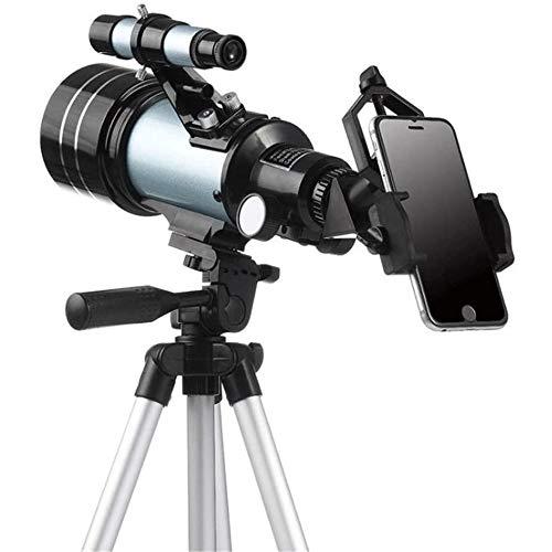 Big Shark Telescopio - Refractor y Viajes Alcance for Principiantes y niños for observar la Luna y el Planeta con el trípode y el Adaptador Smartphone Ocular Realizar fotografías y vídeos