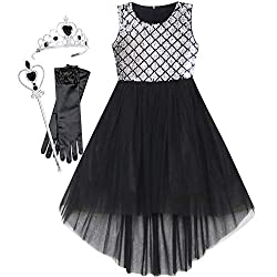 Black Set With Sequin & Mesh Princess Tulle Dress