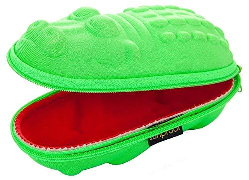Banz Yoccoes Brillenetuis fur Kinder Grüne Krokodil mit roten Mund