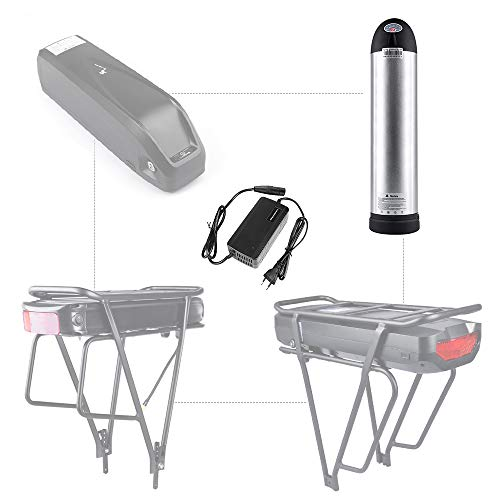 Junstar Batería eléctrica para bicicleta, batería de polímero de litio de 48V batería recargable de para bicicleta eléctrica