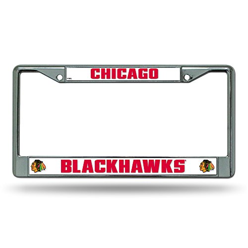 NHL Rico Industries Standard Chrome License Plate Frame, Chicago Blackhawks