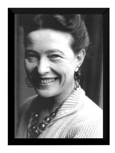Quadro Foto Simone De Beauvoir Feminismo Ativismo Ideologia