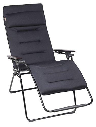 Lafuma Großer Relax-Liegestuhl, Klappbar, Stufenlose Verstellung, Air Comfort, Futura, Acier, LFM3090-6135