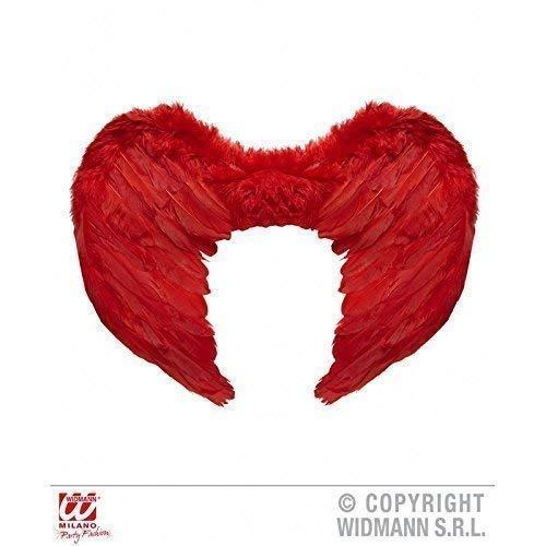 Aile en rouge Plumes pas uniquement pour sombre Ange et Démons Costume env. 37 x 50 cm