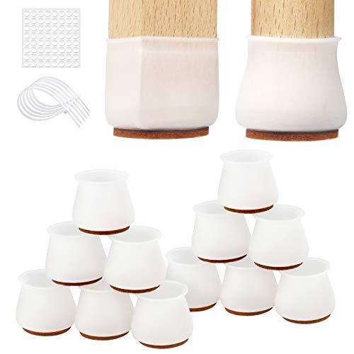 24 pz Silicone Chair Leg Floor Protectors, Mobili Silicon Protection Cover per sedie gambe con feltro, Move…