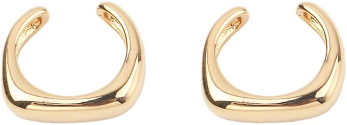 Custom Handmade 1 Pair Dainty Timeless 23k USA Gold Filled 1 Micron Oval Foreign Party Ear Bone Clip Earring Hoop Wholesale Bulk Factory