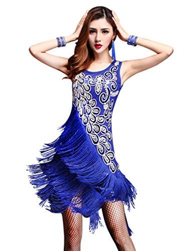 ZX Dancewear Women 1920s Gatsby Sequin Embellished Fringed Flapper...