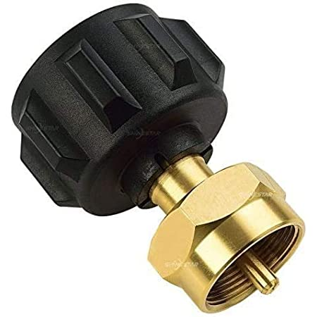 1LB Propane Tank Refill Adapter for Disposable Small Propane Bottle Solid Brass