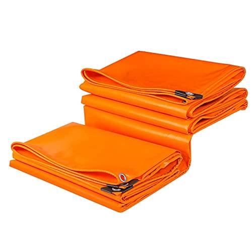 YUMEIGE Lona de Polietileno Resistente Al Fuego Comercial, Cubierta de Lona Naranja de Gran Tamaño, Lona Impermeable para Camión de Madera para Patio de Jardín, con Ojal (Size : 1.5x3m)