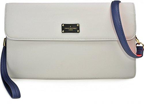 Pauls Boutique, oversize Veronica, dames handtassen, schoudertassen, lichtgrijs blauw, 32 x 20 x 8 cm (B x H x D)