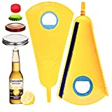 Jar Opener,6 in 1 multiFunction bottle opener for beer bottle cap&cans lid,grip jar opener for seniors with arthritis&weak hands,easy to use for Child,kitchen tools,gadgets for home&outside(Yellow)