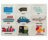 SOE Store Kids Transportation Flashcards for Kids (Toddlers, Preschoolers, Prenursery and Nursery) Learn with Laminated, travelfriendly and Waterproof Travel Toys flashcards + Reusable Activities