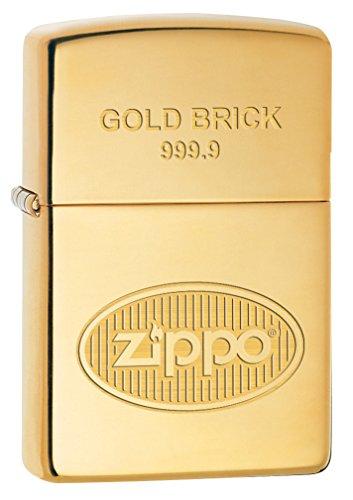 Zippo Lighter: Gold Brick 999.9 - High Polish Brass