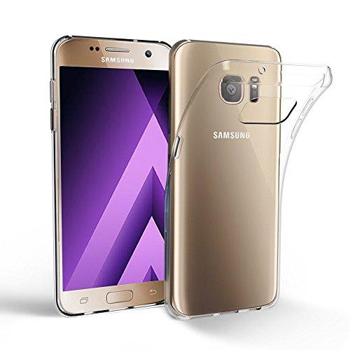 iPro Accessories Schutzhülle für Samsung Galaxy A3 2017, stoßfest, Silikon/TPU-Gel, transparent, Gummi, weich, Nicht kompatibel mit Galaxy A3 2016, Gummi, farblos, Galaxy A3 2017