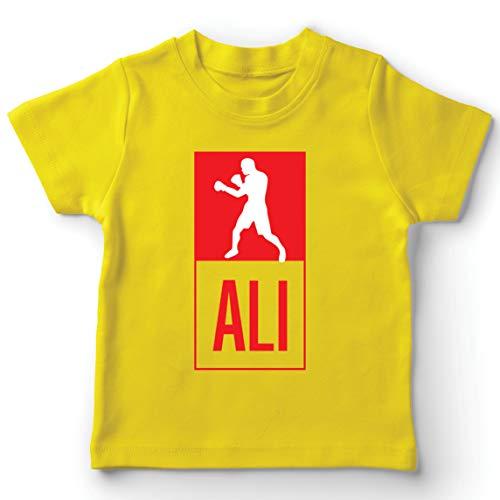 lepni.me Camiseta para Niños Equipo de Entrenamiento Combate De Boxeo Ropa de Ejercicio y Fitness (9-11 Years Amarillo Multicolor)
