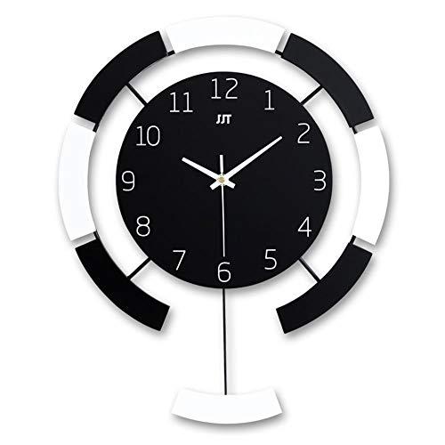 Reloj de Pared de Péndulo Reloj de Cuarzo Sin Tictac de Diseño Moderno decoración de Sala de Estar del Hogar Aguja de Horloge Fácil de Leer