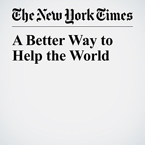 A Better Way to Help the World copertina