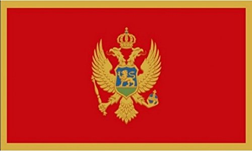 18 x 12 (45 x 30 cm) Montenegro Montenegrin Sleeved Boat Courtesy 100% Polyester Material Hand Waving Flag Banner Ideal For Pub Club School Festival Business Party Decoration by UKFlagShop